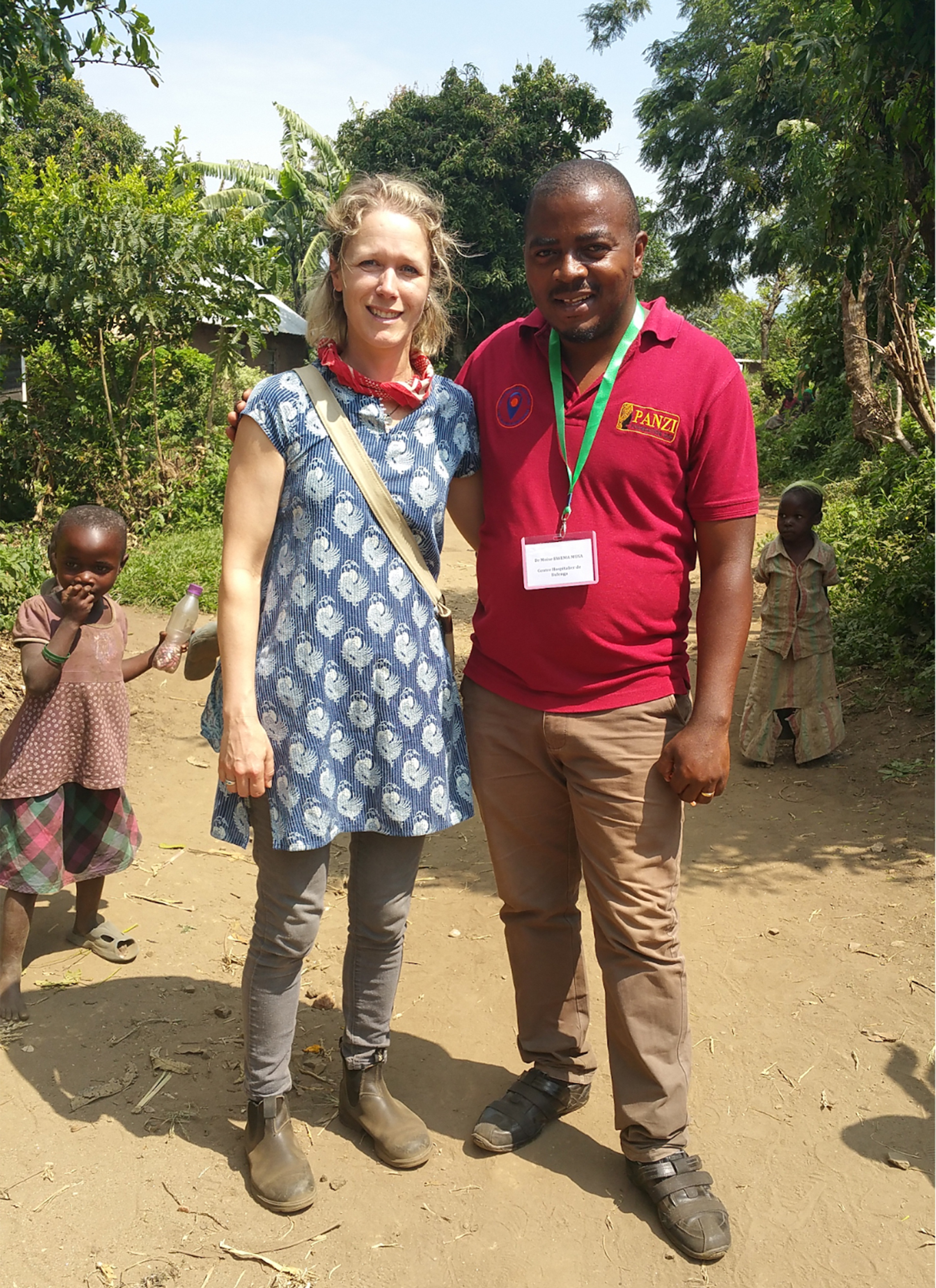 Beth Ann with Dr. Bwema at the One Stop Center in Bulenga, DRC