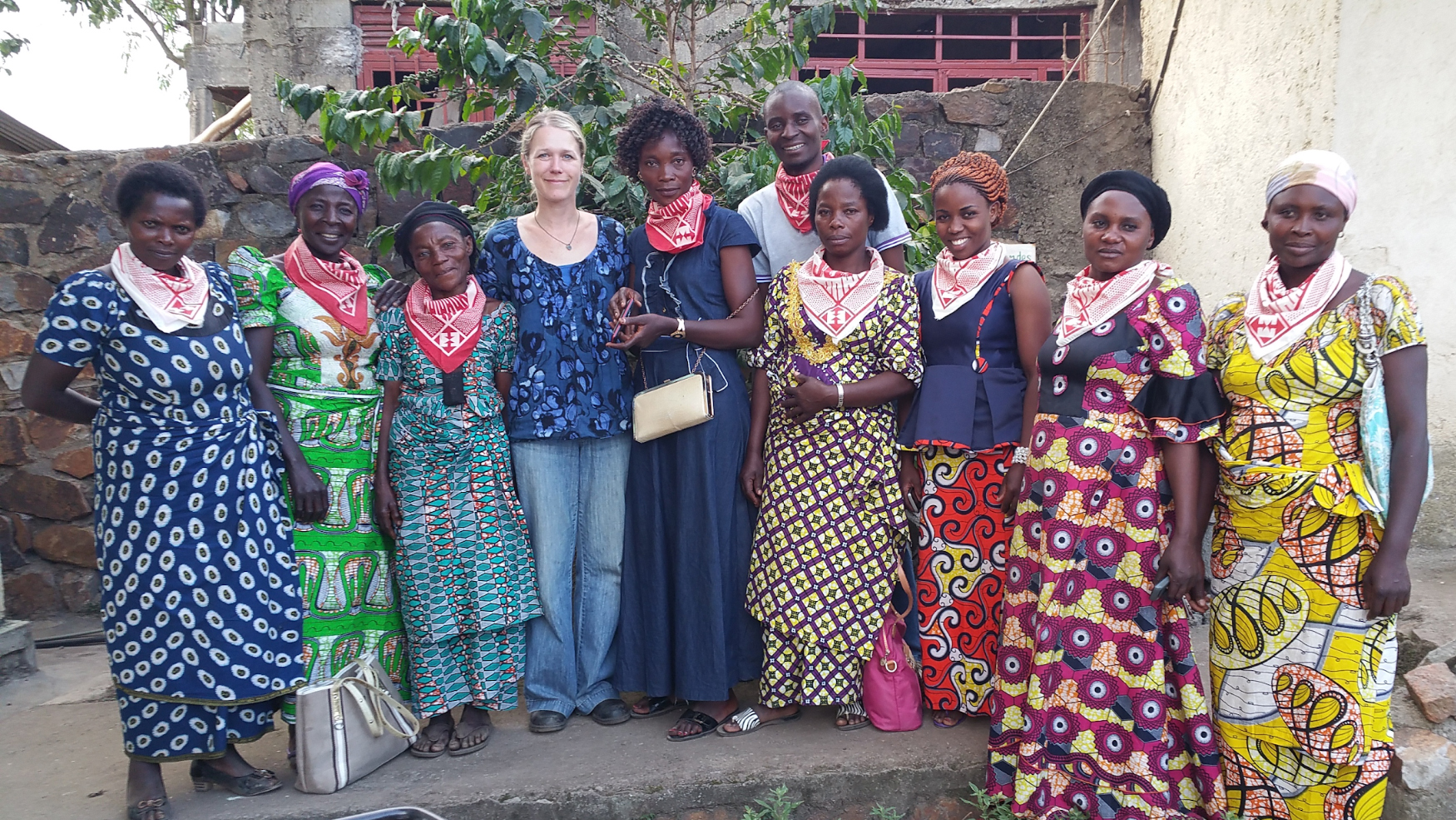 Beth Ann with representatives of the women's groups at SOPACDI