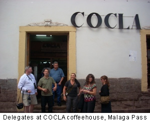 Delegates at COCLA coffeehouse