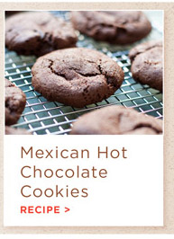 Mexican Hot Chocolate Cookies Recipe.