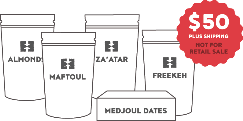 Palestinian Farmers' Box Ingredients