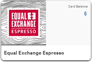 Equal Exchange Espresso Gift Card
