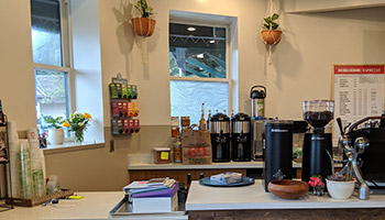 The coffee bar at Equal Exchange Espresso