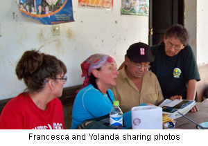 Francesca and Yolanda sharing photos