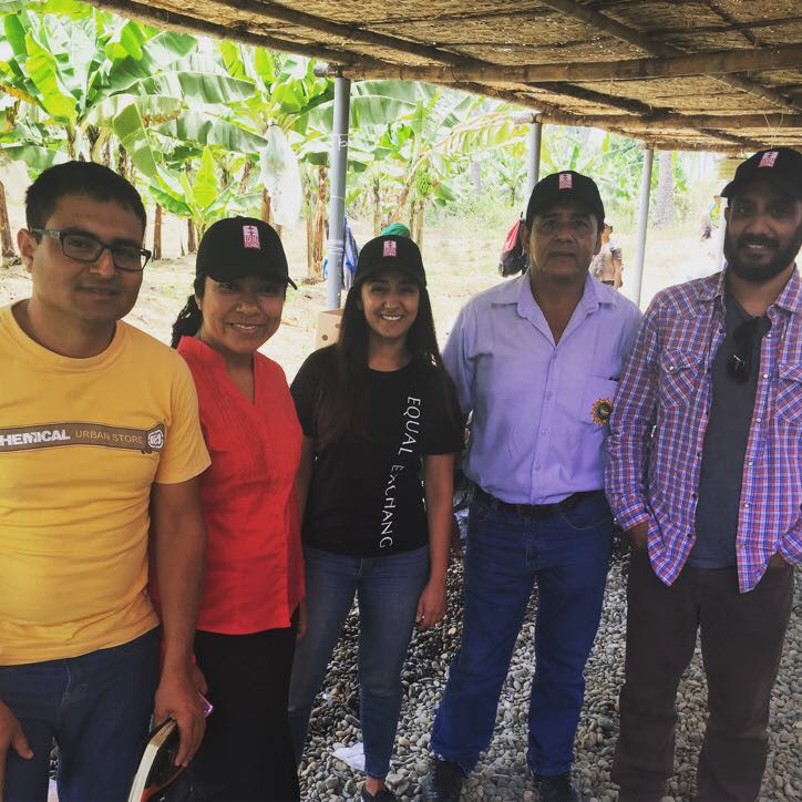 Ravdeep of the Produce Team with farmers at CEPIBO