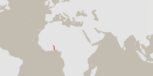 Togo highlighted on a map of Africa