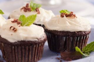 mint cupcake large