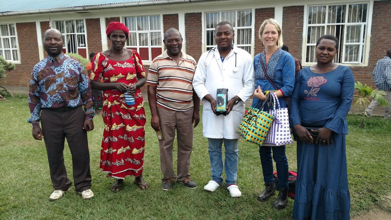 Beth Ann Caspersen with Bulenga clinic staff