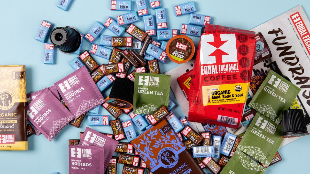 Fair Trade Products Scattered On A Table
