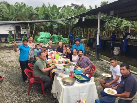 banana farm lunch