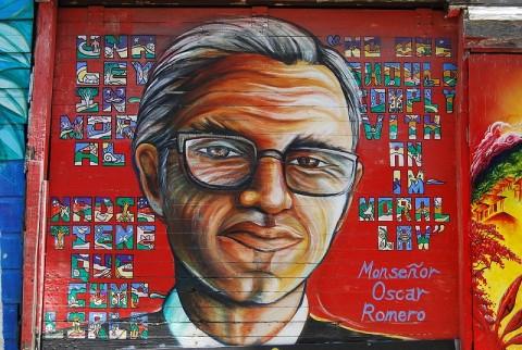 A Mural of Oscar Romero